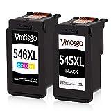 Vmosgo Canon PG-545 CL-546 545 546 Cartucce d'inchiostro, Compatibile con Canon Pixma MX490 MX495 MG2955 MG3050 MG2450 MG2455 MG2500 MG2550 MG2550S MG2555S iP2850 iP2800 iP2840 (Nero, Tri-colore)