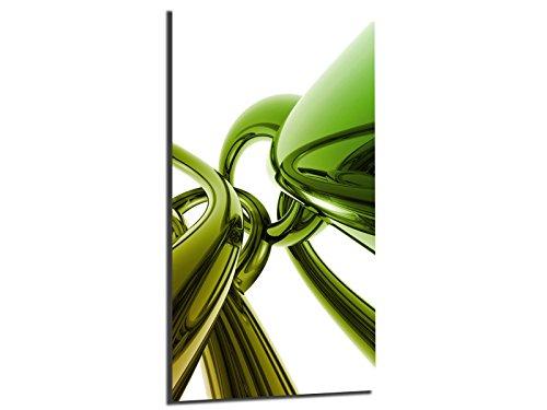 Alu-Dibond afbeelding ALU100502300 STYLE RINGE NEON 50 x 100 cm, metalen afbeelding, geborsteld oppervlak (Butlerfinish©), INCL. Ophangsysteemset