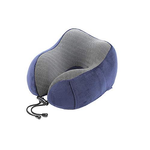 Reposacabezas Almohada Con Forma De U De Espuma De Memoria Almohada Inflable Para El Cuello Asiento De Automóvil Para Niño Adulto Siesta Almohada De Viaje En Avión Para Automóvil Azul