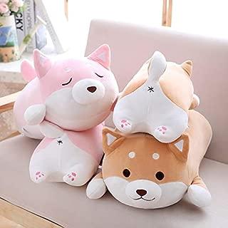 HIGHUP Stuffed & Plush Animals - 36cm Cute Fat Shiba Inu Dog Plush Toy Stuffed Soft Kawaii Animal Cartoon Pillow Lovely Gift for Kids Baby Children 1 PCs