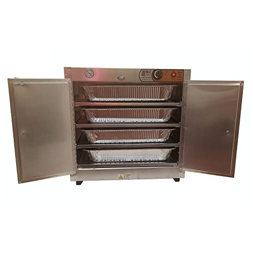 HeatMax 251524 Party Catering Hot Box Food Warmer for 4 Full Size Disposable Trays
