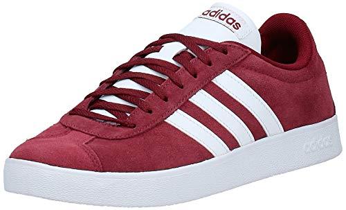 adidas Herren VL Court 2.0 Fitnessschuhe, Rot (Buruni/Ftwbla/Negbas 000), 41 1/3 EU