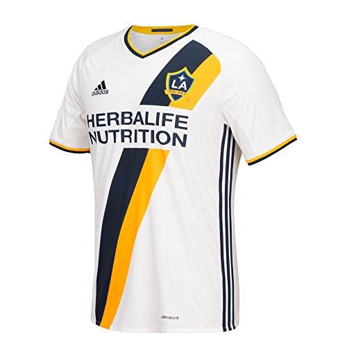 MLS LA Galaxy Men's Replica Short Sleeve Team Jersey, White, X-Large