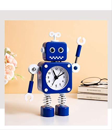 yywl Alarm Klok Nieuwe Cartoon Mute Robot Children's Alarm Klok Speelgoed Familie Desktop Nachtkastje Decoratie Jongens En Meisjes Nachtkastje