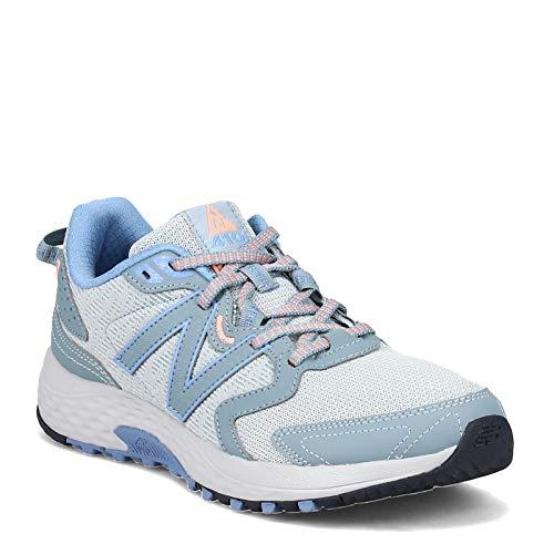 New Balance Women's 410 V7 Trail Running Shoe, Rogue Wave/Wave/Eclipse, 6