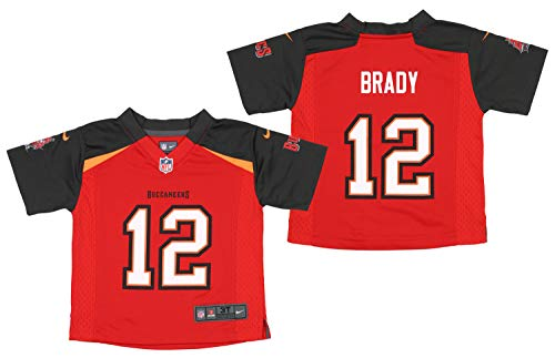 Nike NFL Toddlers NFL Game Team Jersey Brady Tom Tampa Bay Buccaneers Size T3T Red