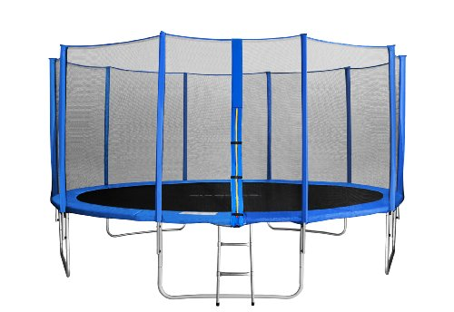 SixBros. SixJump 15FT 4.60 M Garden Trampoline Blue - Safety net - Ladder - Protection cover TB460/1790