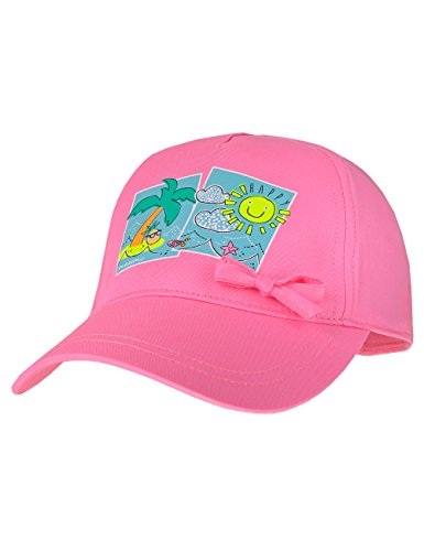 maximo Baby-Mädchen Cap Happy mit Schleife Kappe, Rosa (Pink Rose 64), 47/49