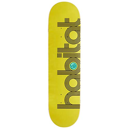 Habitat Unisex-Erwachsene Ellipse PP MED-8.125 Skateboard-Deck, Bunt