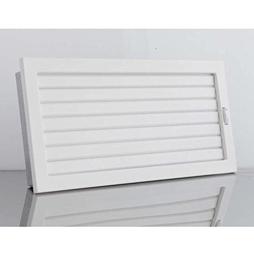 Lüftungsgitter mit beweglichen Lamellen 200 x 145 mm - Weiß