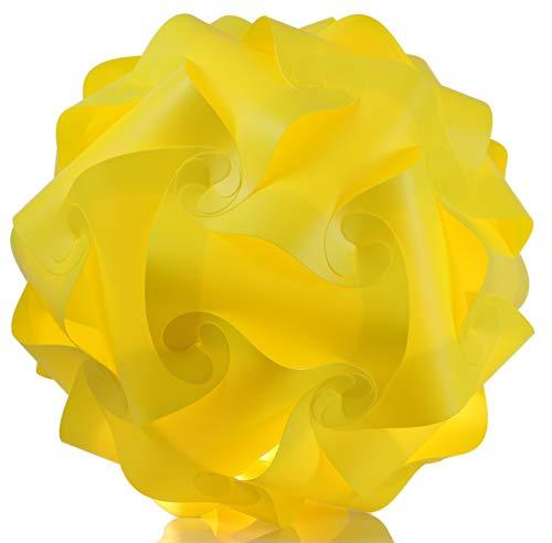 Puzzle Lampe xl 45cm Lampenschirm Steh- Designer- Deco Deckenleuchte Gelb