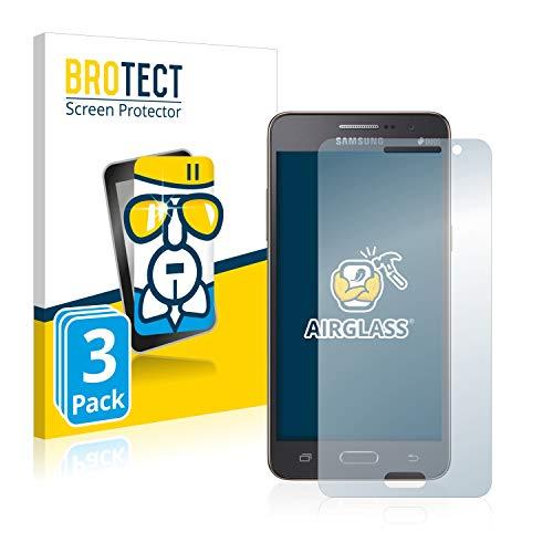 BROTECT Protector Pantalla Cristal Compatible con Samsung Galaxy Grand Prime SM-G531F Protector Pantalla Vidrio (3 Unidades) Dureza 9H AirGlass