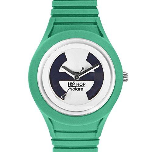 Hip Hop Watches - Orologio da Donna Emerald HWU0539 - Collezione Solare - Cinturino in Silicone - Impermeabile 5 ATM - Cassa 34mm - Verde Smeraldo
