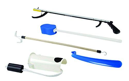 """FabLife 86-0070 Kit de cadera con 66 cm de alcance, esponja contorneada, ayuda para calcetines formados, 26"""" Reacher, Dressing Stick, Plstc Shoehorn, 1"""