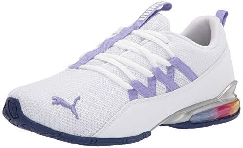 PUMA Women's 19499501 Running Shoe, White-Hazy Blue, 8