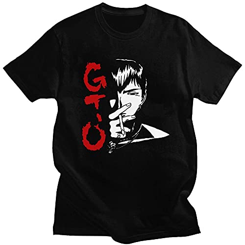 Divertente Anime Great Teacher Onizuka T-Shirt Uomo Manica Corta Manga T-Shirt O-Collo T-Shirt in Cotone Top Giappone Eikichi T-Shirt Harajuku