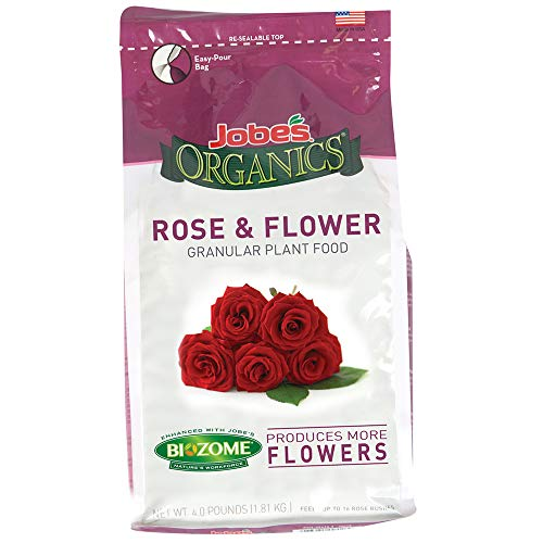 Jobe's 09423  Organics Flower & Rose Granular Fertilizer with Biozome