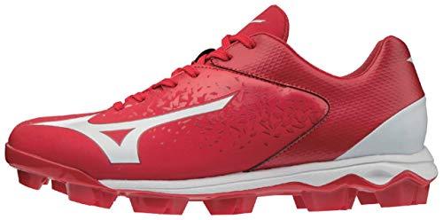 Mizuno 320584.1000.19.1300 Select Nine TPU Low Molded Baseball Cleat Red-White (1000) 13 (1300)
