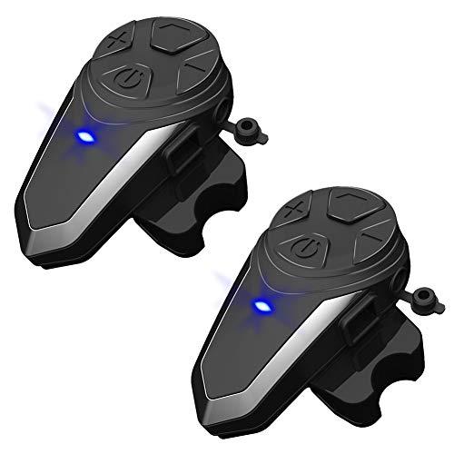 Intercomunicador de casco de motocicleta Fuhuihe, casco manos libres Bluetooth BT-S3 para...