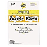Pacon Super Value Poster Board, 22'X28', White, 50 Sheets
