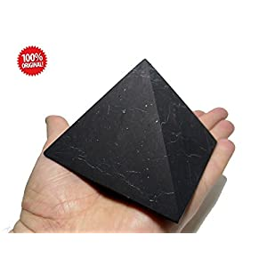 Shungite UnPolished Pyramid 90x90 mm (3.54x3.54 inch) For EMF Protection