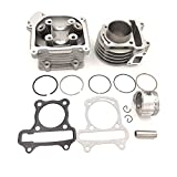 hongyu 50mm Bore Cylinder Head Kit for GY6 50cc to 100cc Engine with 69mm Valves scooter taotao kazuma ATV Moped