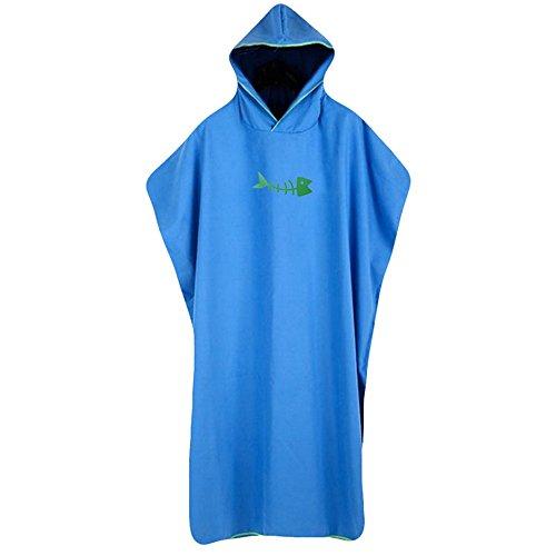 F.Lashes Häuse Erwachsene Polyester Kreativ Kapuzen Bademantel Weich Damen Morgenmantel mit Kapuze Saunamantel (blau)