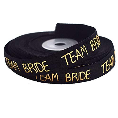 WENTS Team Braut Hen Party JGA Armbänder Braut 9 laufende Meter elastisches Gummiband für Junggesellinnenabschied und Hochzeit Hen Party Zubehör