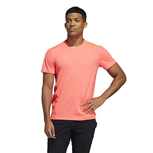 adidas Aeroready 3-Stripes Camiseta, Señal Rosa, L para Hombre