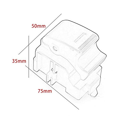 84810-32070 para Toyota Land Cruiser Interruptor /único para ventana el/éctrica Negro