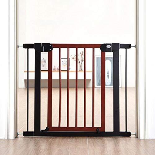 PNFP Extra brede en hoge houten huisdierdeur voor de veiligheid binnenshuis, uittrekbare Gates Puppy Toddler-loopstal voor kinderen, 76-153 cm breed