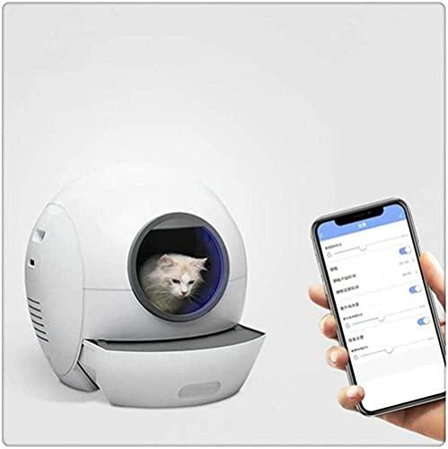 HTDHS Caja de arena de gato inteligente grande, chat y desodorante kit de entrenamiento de inodoro, basura para gatos automáticos, potenta de mascotas, desodorantes totalmente cerrados y anti-splashin