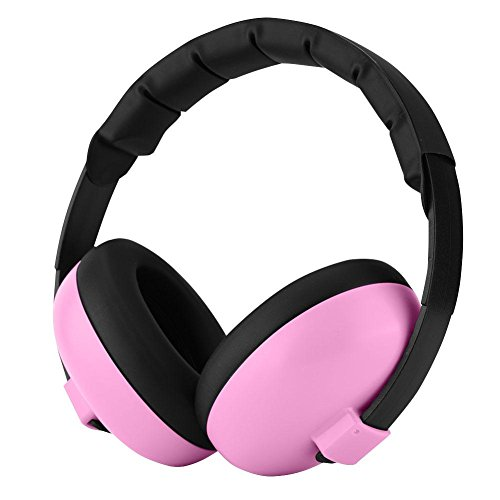 Bewinner gehoorbeschermers voor baby's, SNR 27 dB (geluidsreductie) Geluidsarme oorbeschermers voor kinderen, hoofdtelefoons voor gehoorbescherming voor baby's Geschikt voor baby's onder de 2 jaar (roze)