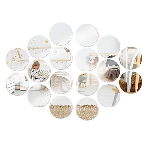 Anladia 18 Stück Spiegelfliesen Wandspiegel Selbstklebend Kunst-Spiegel Wandaufkleber aus Acryl für Badezimmer, Küche, Wohnzimmer, Umkleidekabine