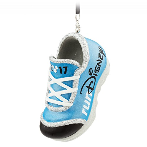 2017 Run Disney Parks Disneyland World Blue Sneaker Shoe Ornament