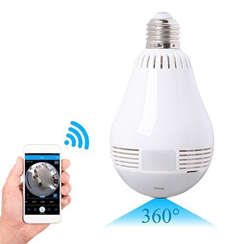 SpyCent Cámara de Seguridad con Sensor de Movimiento en el hogar, Cámara con lámpara de luz LED,