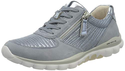 Gabor Damen Rollingsoft 46.968 Sneaker, Blau (Cielo/Azur 83), 40.5 EU