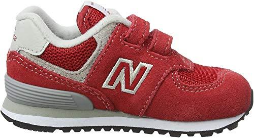 New Balance 574, Entrenadores para Bebés, Rojo (Red/Grey Red/Grey), 21 EU