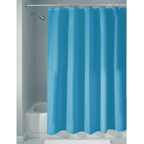 Price comparison product image iDesign Poly Bath Curtains,  Long Shower Curtain,  Made of Polyester,  Azure