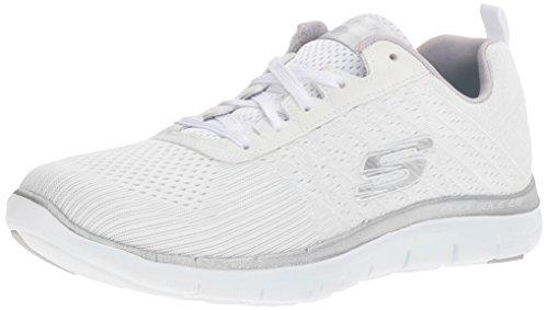Skechers Flex Appeal 2.0-Break Free, Damen Outdoor Fitnessschuhe, Weiß (wsl), 37 EU(Herstellergröße: 4 UK)