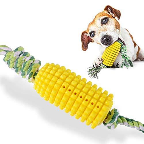 Aomier Juguetes para el cuidado dental del perro, ventosas, juguete para perros, fuerte juguete para masticar, pelota para perros en cuerda, juguete molar de goma termoplástica