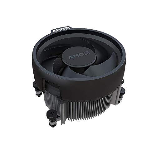 AMD Wraith Spire Socket AM4 4-Pin Conector CPU Enfriador con base de cobre y disipador de calor de aluminio y ventilador de 3.81 pulgadas AM4_COPP