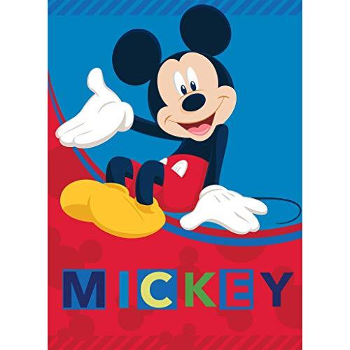 Texidea - Manta polar de Disney Mickey Mouse | 100 x 140 cm | lavable a máquina hasta 40°