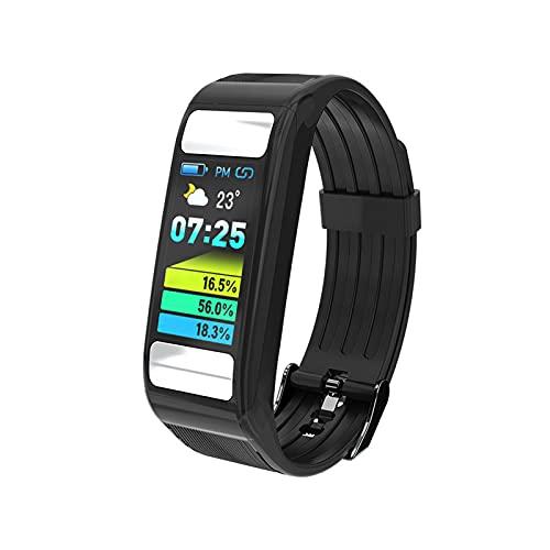 PYAIXF Pulsera Actividad Inteligente, 0,96 Pulgadas Monitor De Pulso Cardiaco Rastreador De Fitness Rastreador De Actividad Infantil Señoras Hombres Llama Mensaje Corto Batería De 7 Días-Black