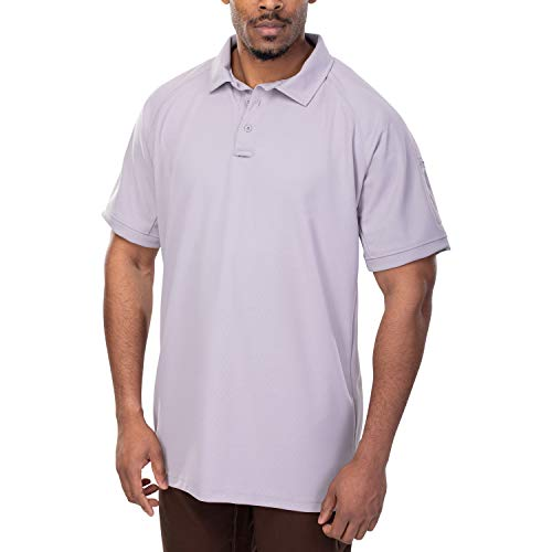 Vertx Men's Coldblack Short Sleeve Polo Shirt, Long Body, Lt. Grey, Large -  VERTX Tactical Clothing and Gear, F1 VTX4000PT-LTG-Large
