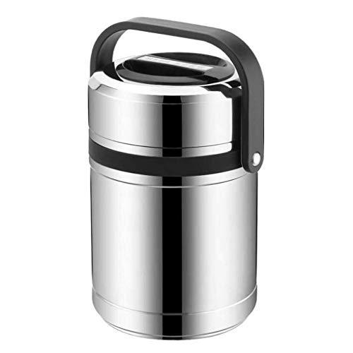 Vacuum Lunch doos met handvat geïsoleerde lunch Container Adult Leak Proof Potje RVS etensketeltje Container