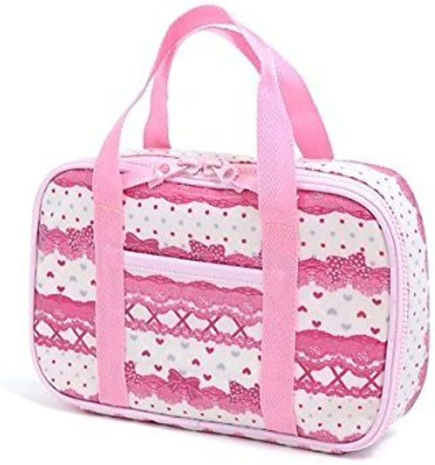 In the race pattern and ribbon (only bag) Kids sewing bag rated on style Pretty cute (Weiß) made in Japan N2300900 (japan import)