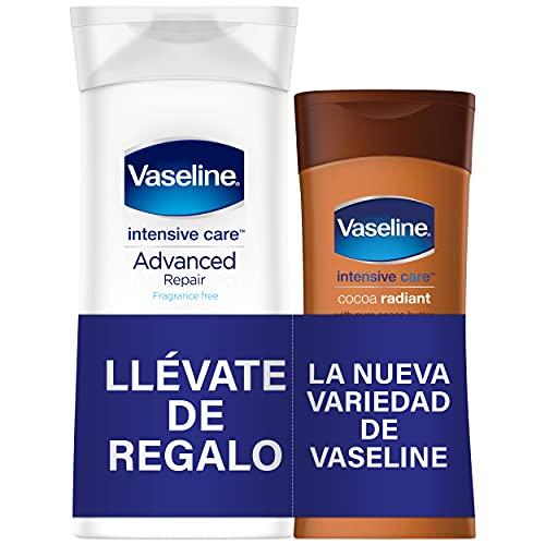 VASELINE LOCIÓN CORPORAL ADVANDCER REPAIR 400 ML + REGALO COCOA RADIANT 200 ML