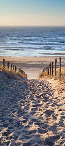 Bilderdepot24 Türtapete selbstklebend Schöner Weg zum Strand III 90x200 cm - einteilig Türaufkleber Türfolie Türposter - Landschaft Natur Meer Sand Ostsee