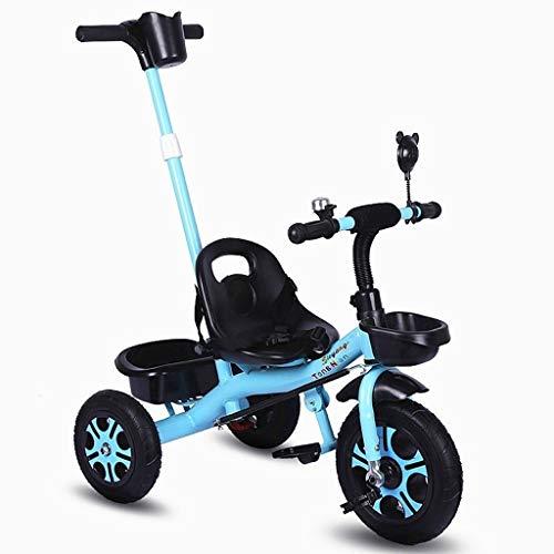 WENJIE 1-5 Años De Edad Los Niños Ciclista De La Bicicleta Bicicleta Al Aire Libre Bebé Putter Cochecito De Bebé Ajustable 4 Colores Todos Los Neumáticos del Terreno (Color : Blue)